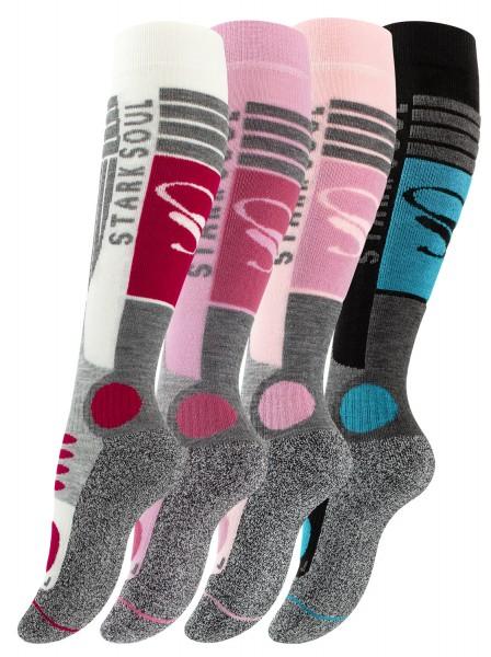 Ski & Snowboard Socken mit Spezialpolsterung, 2 Paar